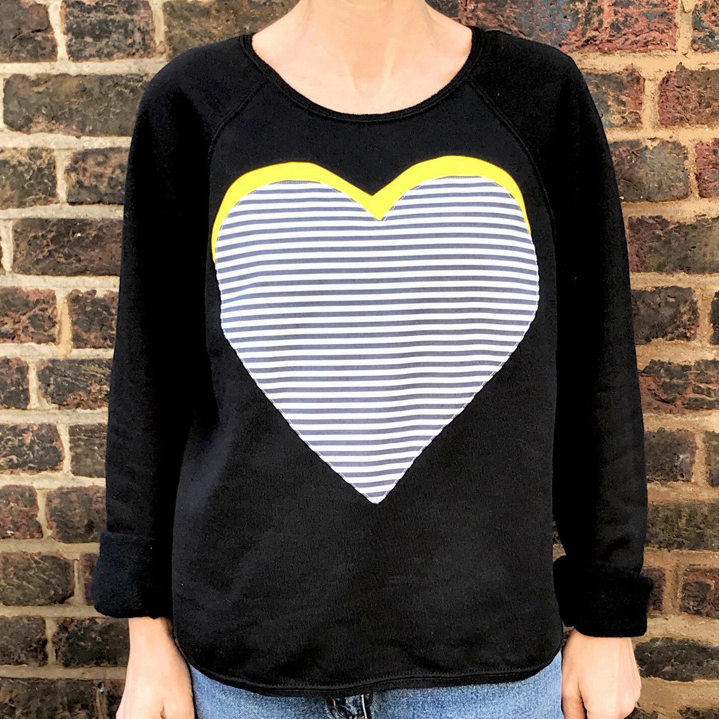 I Love Heart Wealden Black Sweatshirt