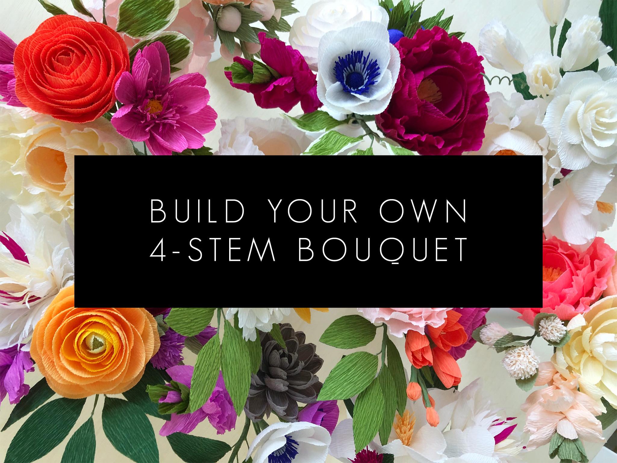 Paper Flowers Build Your Own 4 Stem Bouquet Amaranthus Paper Flora