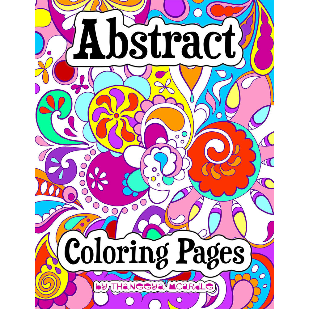 - Abstract Coloring Pages - Printable E-Book Of Groovy Abstract