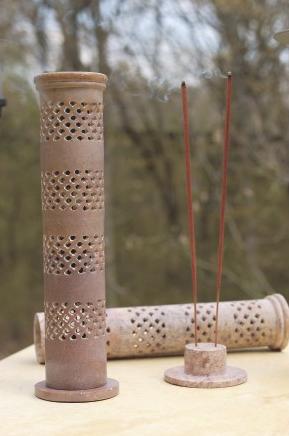 India Handicraft's Hand-cut Stone Incense Burner