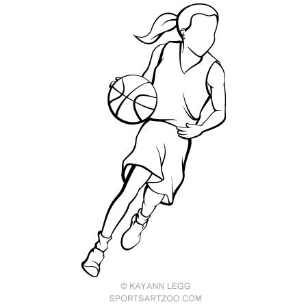 basketball girls clipart - Clip Art Library