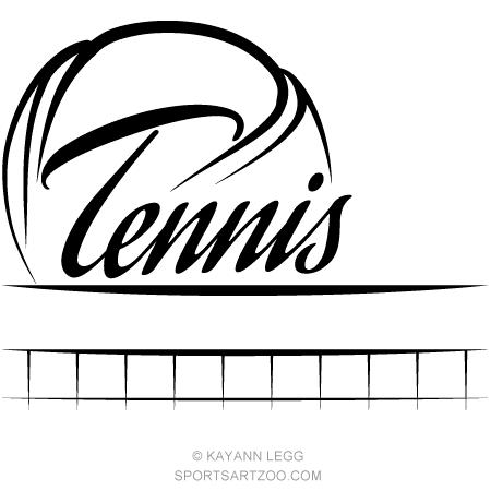 Tennis Banner Sportsartzoo