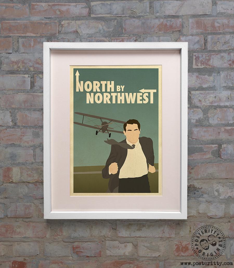 NORTH BY NORTHWEST Minimalist Movie Poster Posteritty Minimal Film design Print