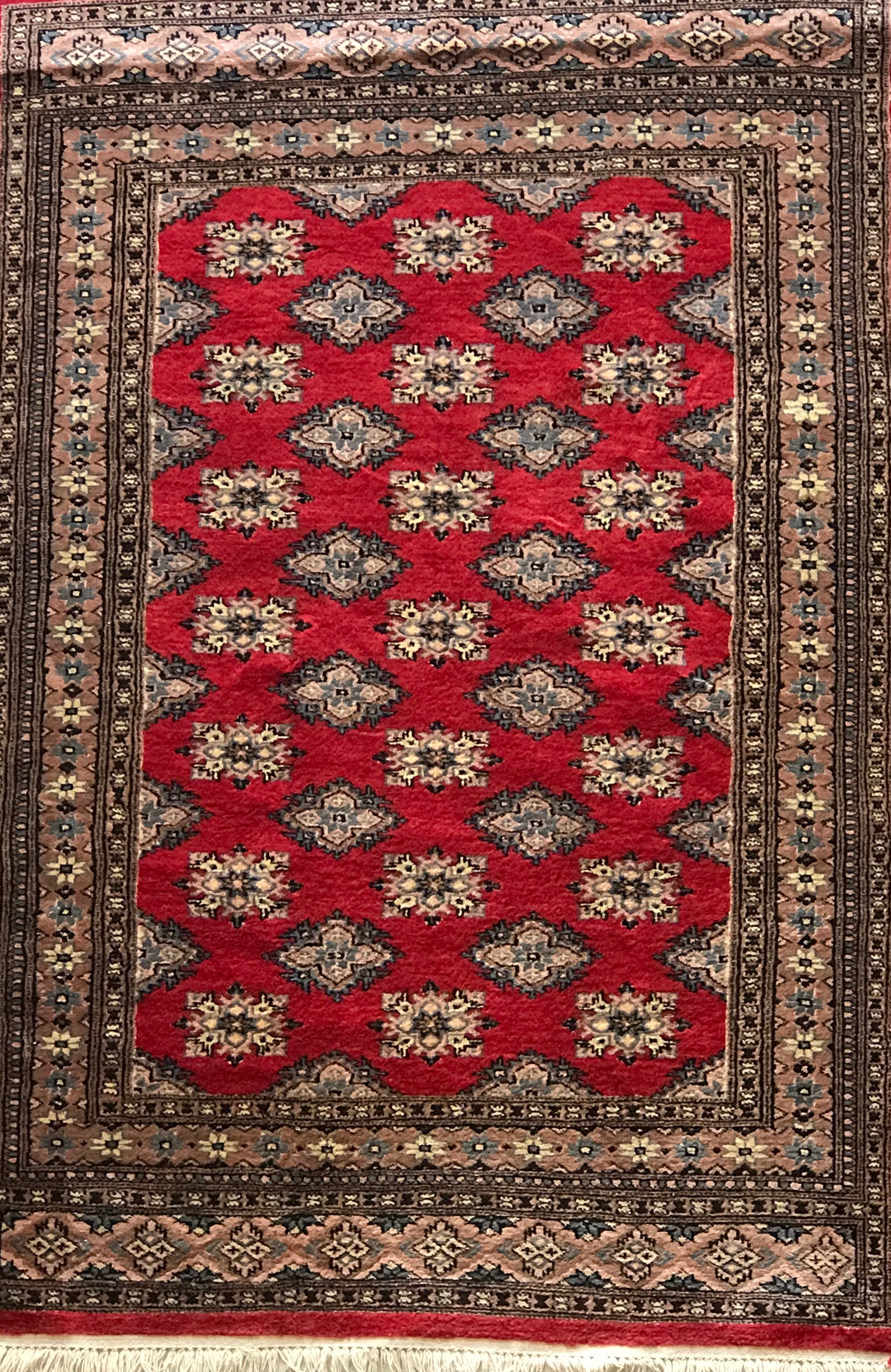 Miss Persia Red Rug W Fringe