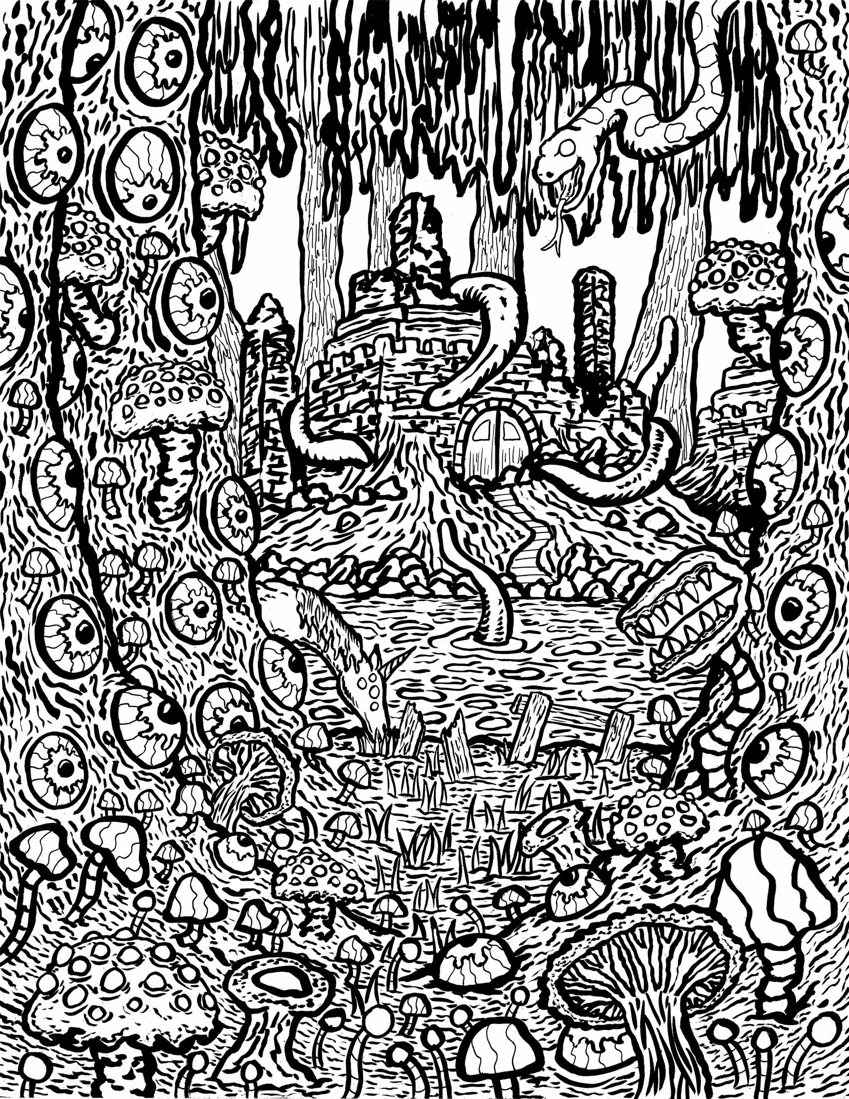 - DROPPING COLOR: A Mindtrip Coloring Book — LUIS COLINDRES ART