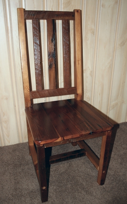 Barn Wood High Back Dining Chair — Barn Wood Furniture - Rustic Barnwood  and Log Furniture By Vienna Woodworks