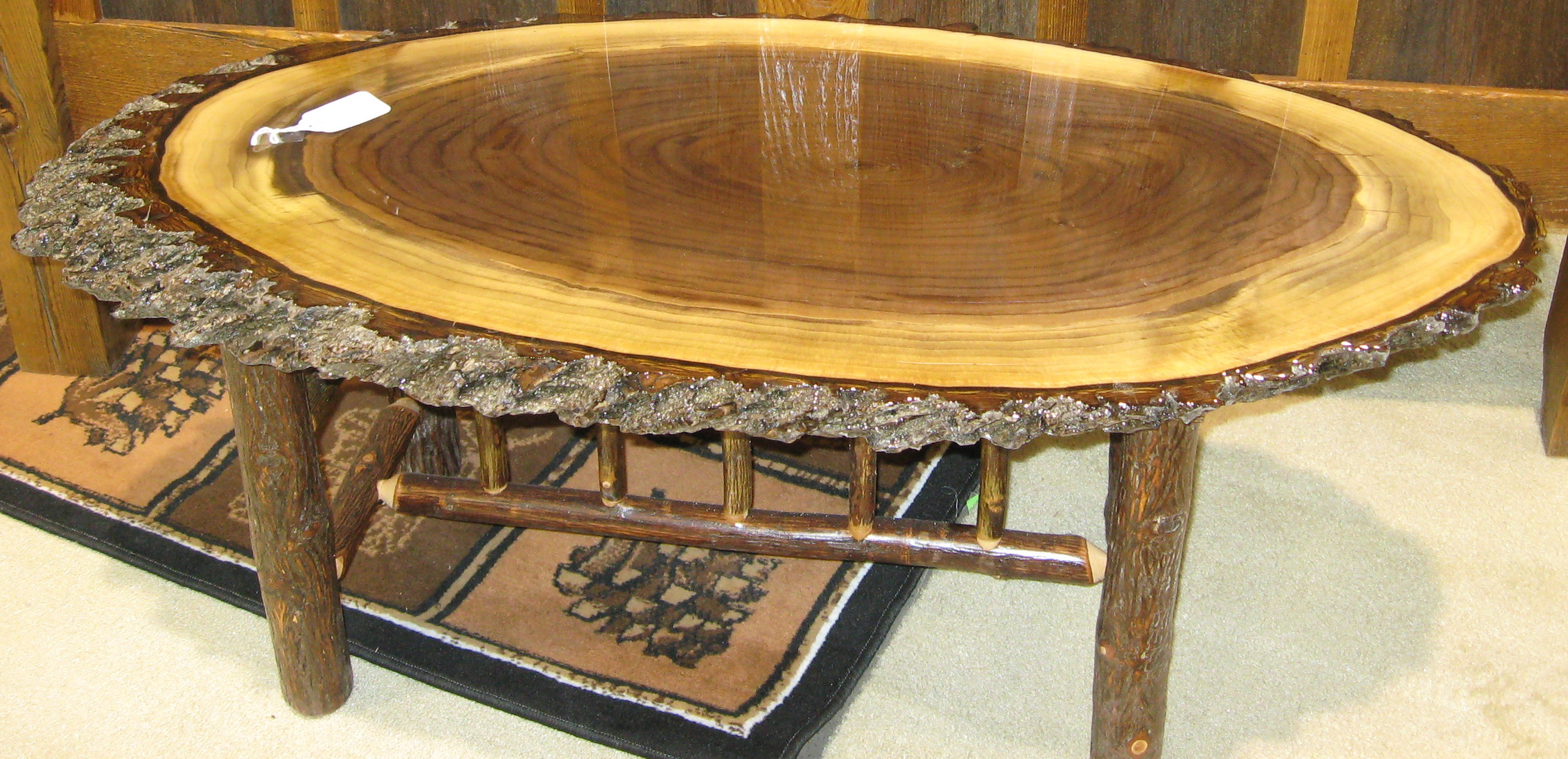 Log Slab Coffee Table Barn Wood Furniture Rustic Barnwood And