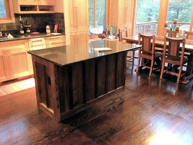 Barn Wood Kitchen Island — Barn Wood Furniture - Rustic Barnwood and Log  Furniture By Vienna Woodworks
