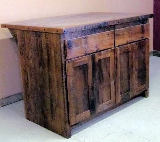 Reclaimed Wood Kitchen Island — Barn Wood Furniture - Rustic Barnwood and  Log Furniture By Vienna Woodworks