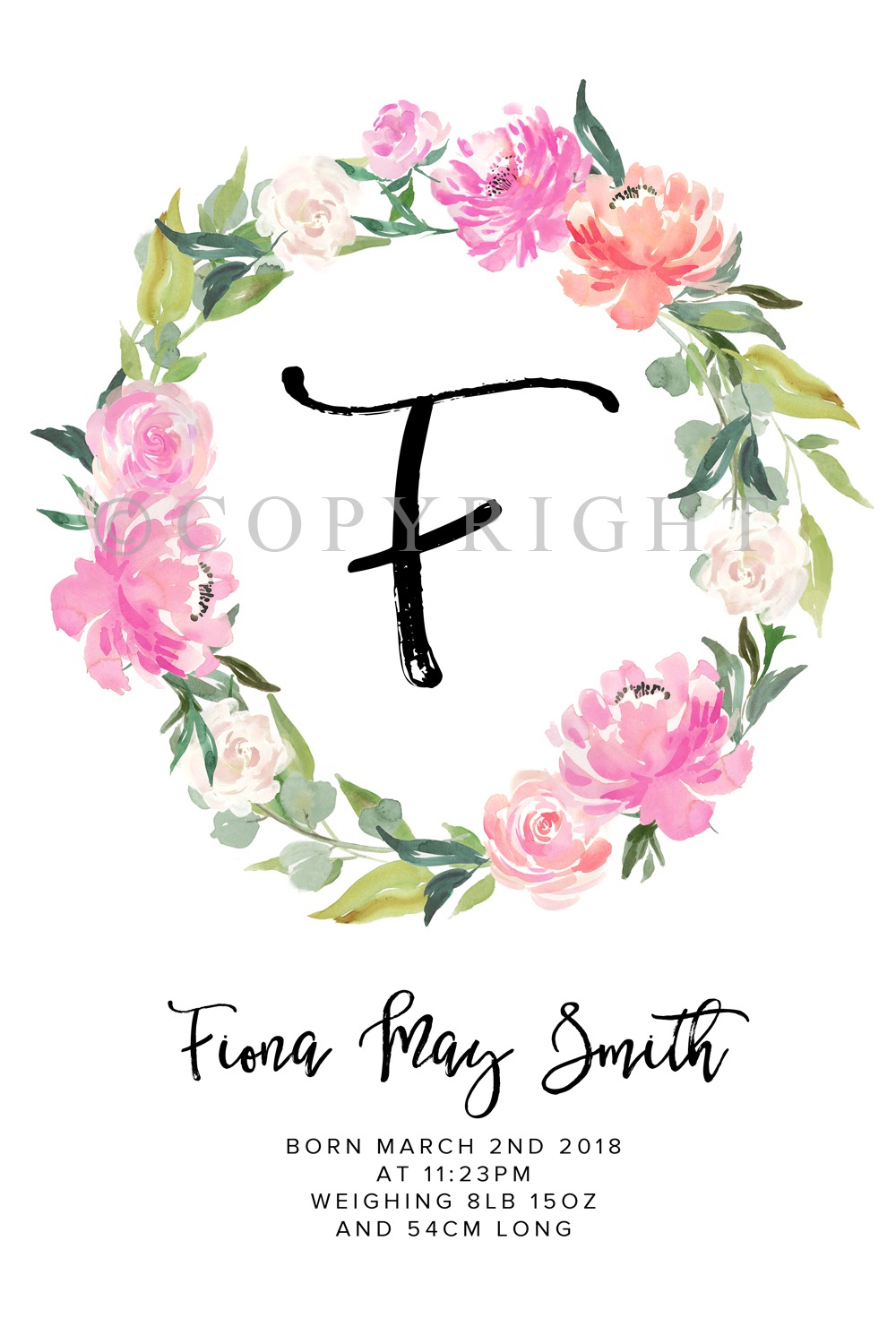picture about Wreath Printable named Winter season Bloom Images Floral Wreath Custom made Standing Artwork Printable