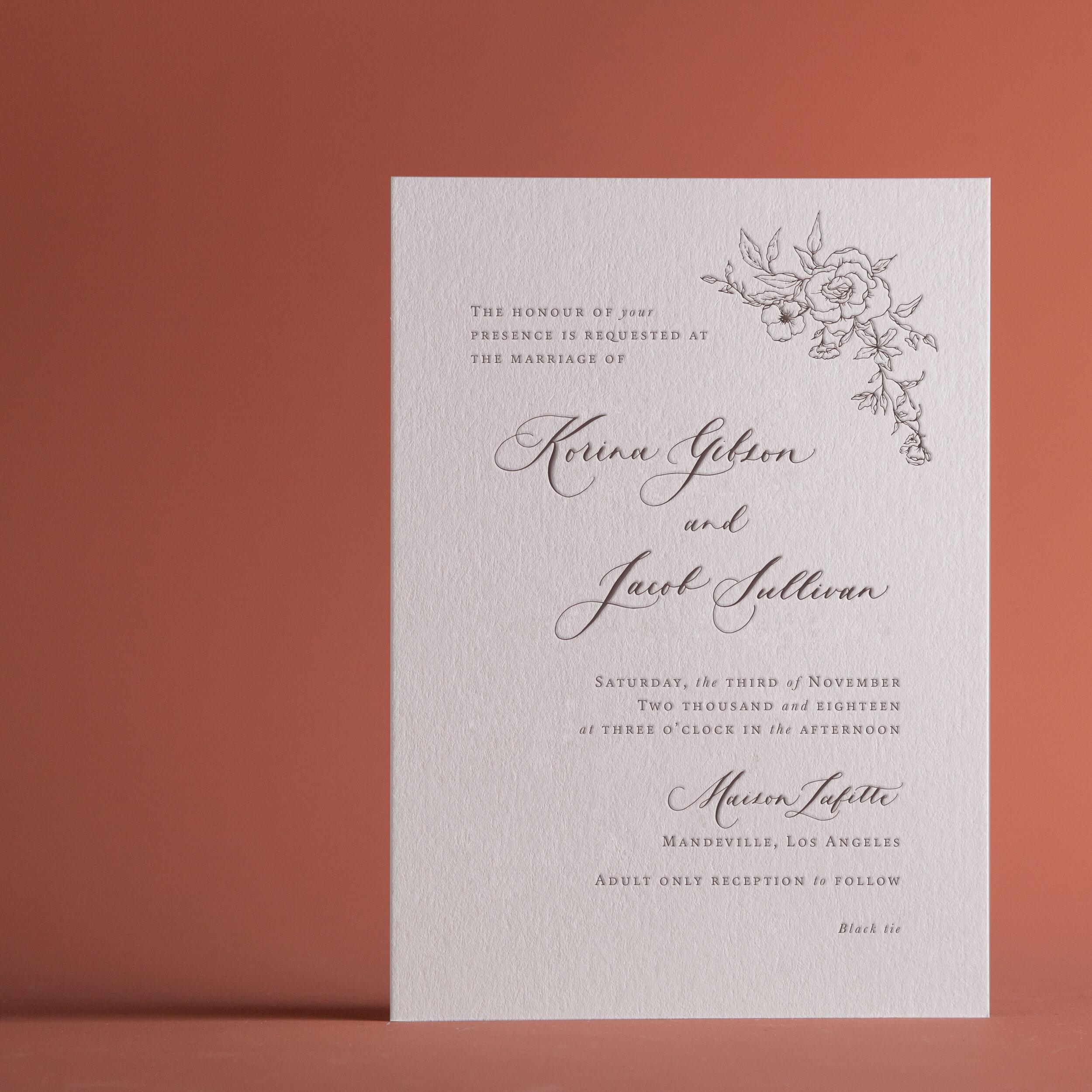 Classic Rose V 4 Invitation Card P A P E L Co