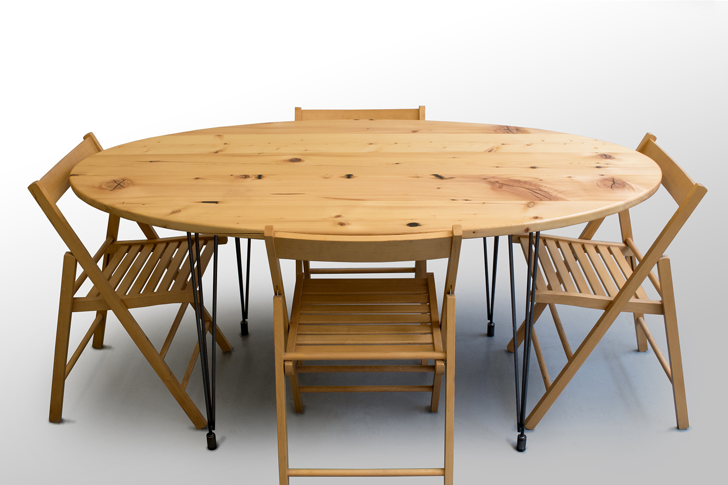 The Percy Kitchen Table: Reclaimed White Pine — Grain Control   mid-century  modern custom furniture   Brooklyn NY