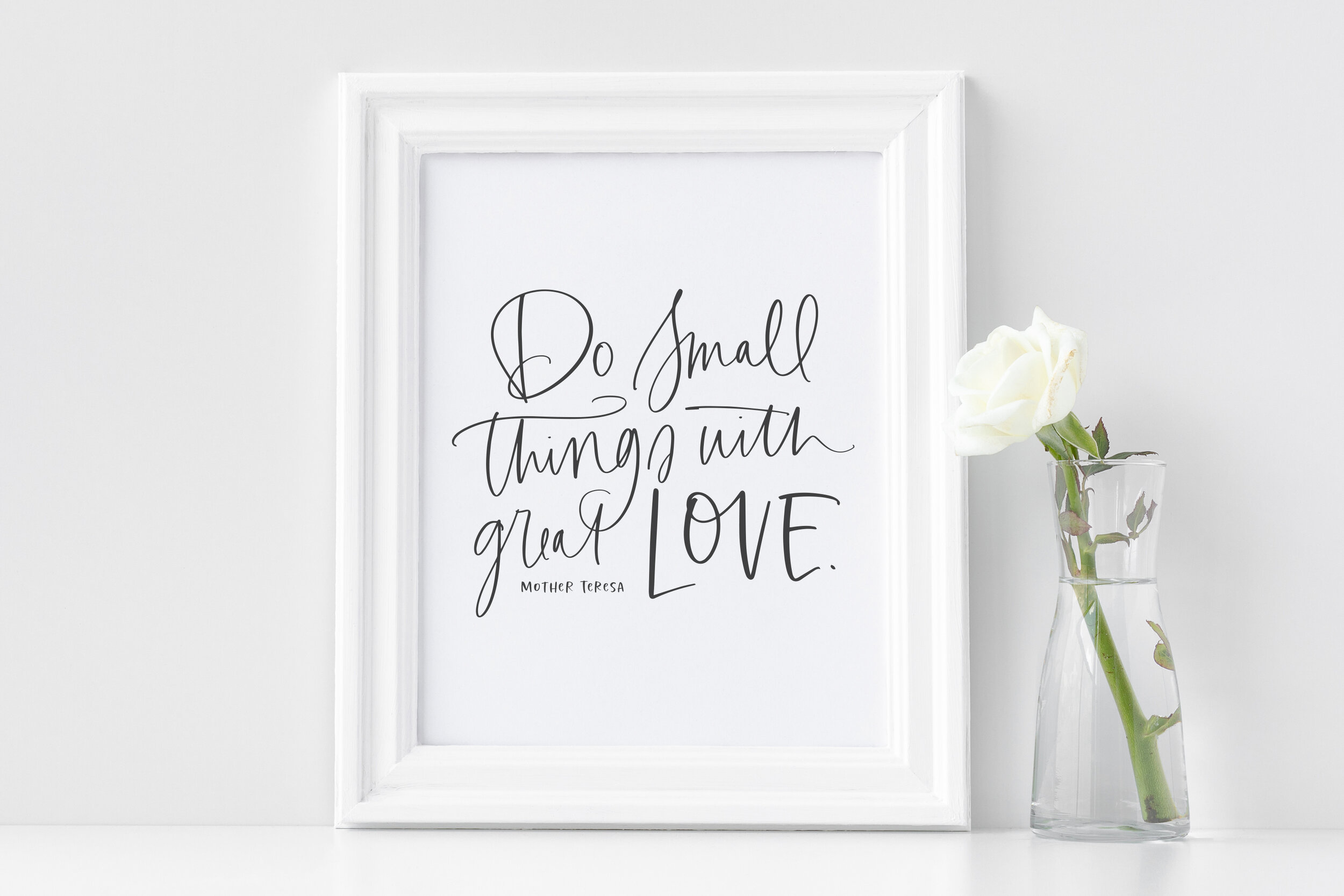 Do Small Things With Great Love Printable Svg Callie Hegstrom Co