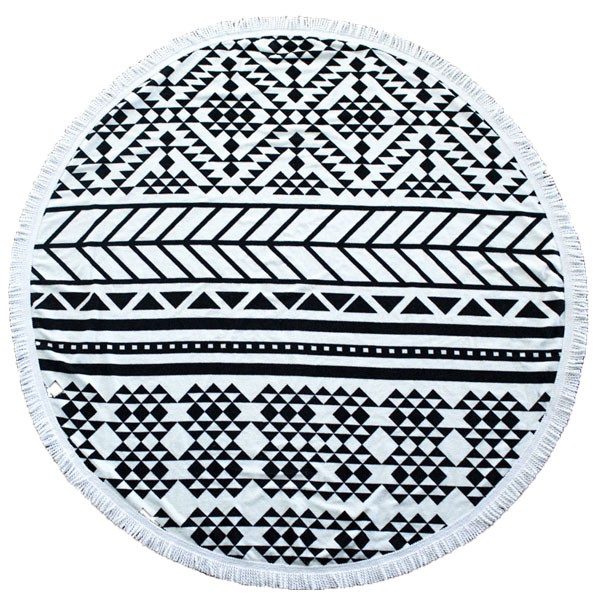 The Beach People Towel Aztec Round Patterned Towel