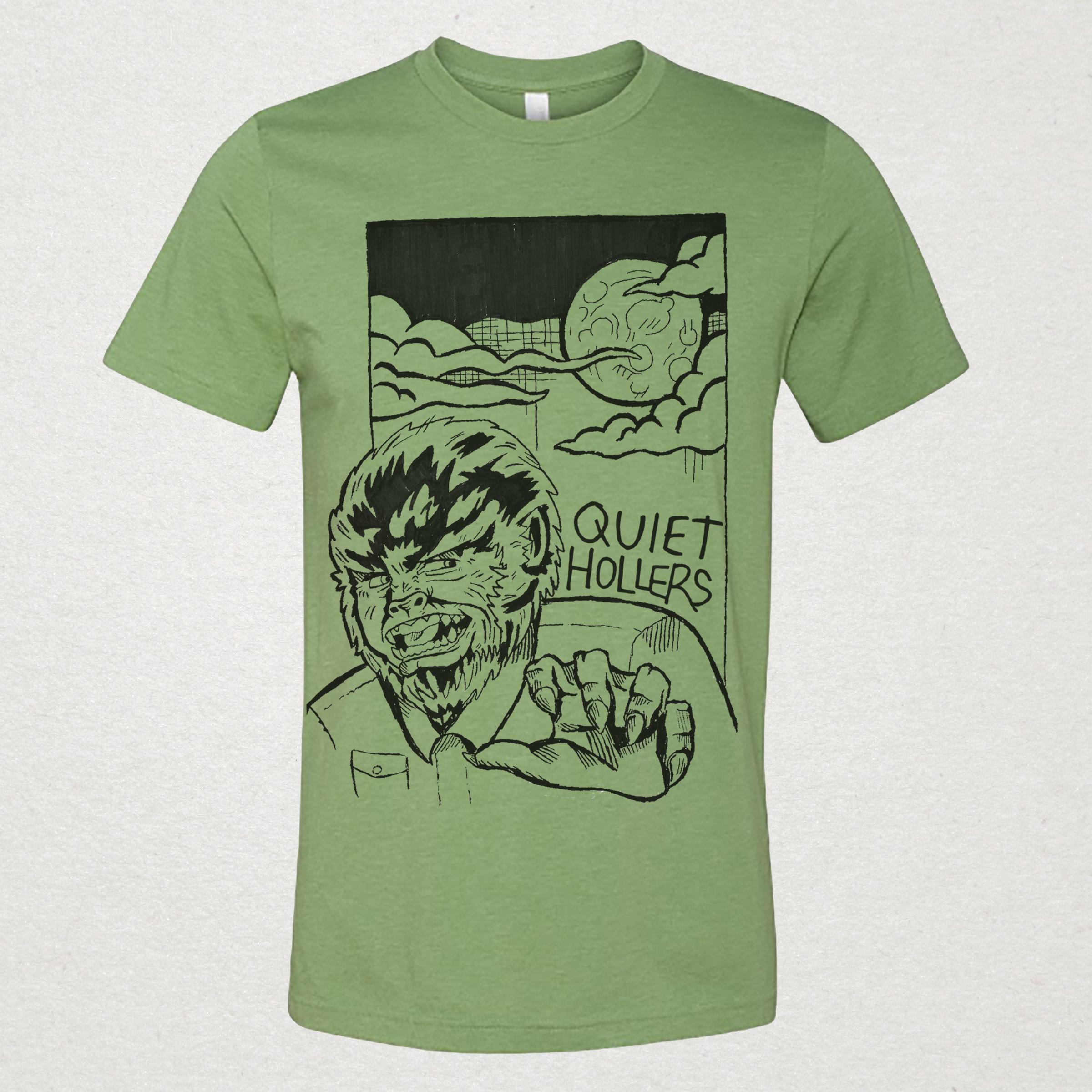b76157e319 Werewolf T-Shirt - Heather Green (pre-order) — Quiet Hollers