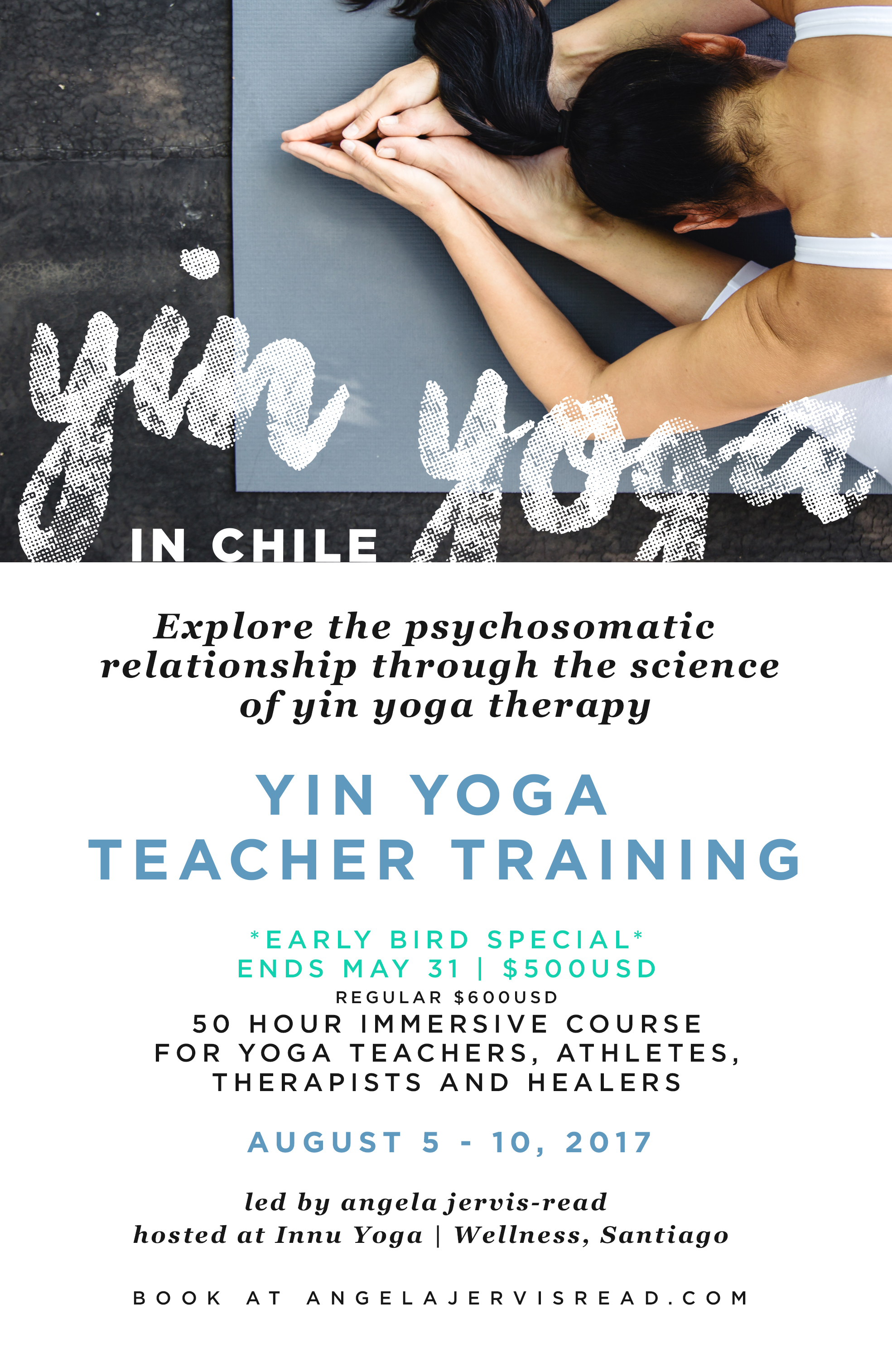Yin Yoga Teacher Training 50 Hours Chile Angela Jervis Read