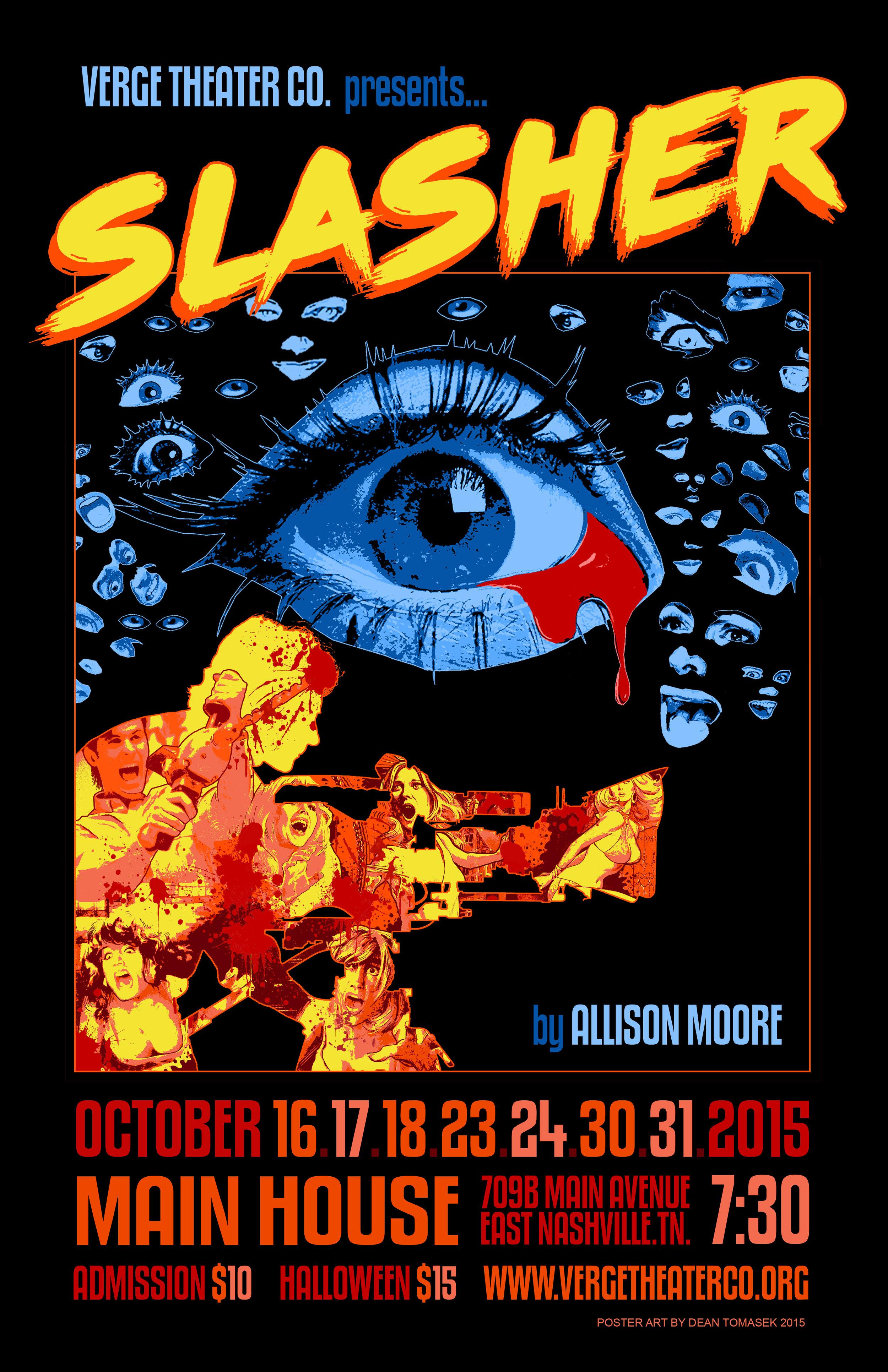 Halloween Poster Art.Slasher 11 X 17 Concert Poster The Artworks Of Dean Tomasek