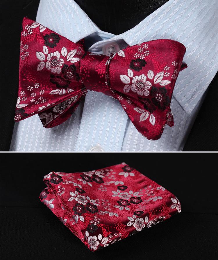 Tie Set Blue Ties Wedding Ties Pocket Square The Blue Rose: Blue Floral Bow Tie
