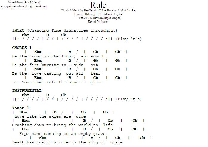 Rule: G Flat Major — Praise & Worship Guitarist