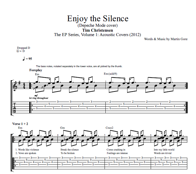 Enjoy the silence guitar tab