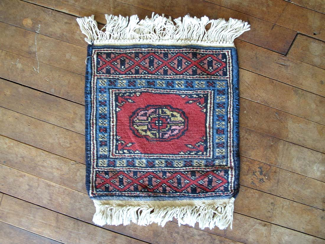 Vintage Persian Bokhara Rug 1 0 X1