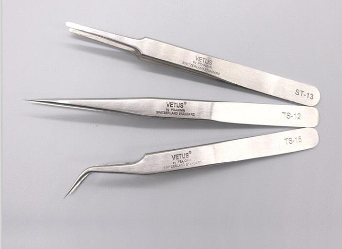 Vetus Professional Eyelash Extension Tweezers — Lé Lash Beautiqué Academy