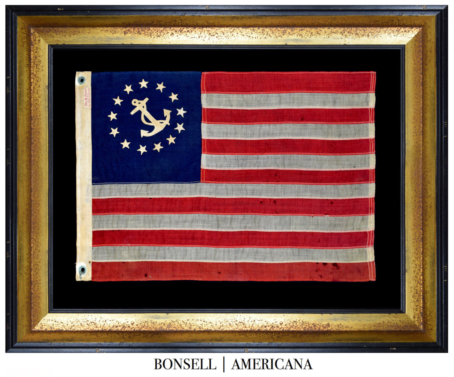 13 Star Antique Yacht Flag With