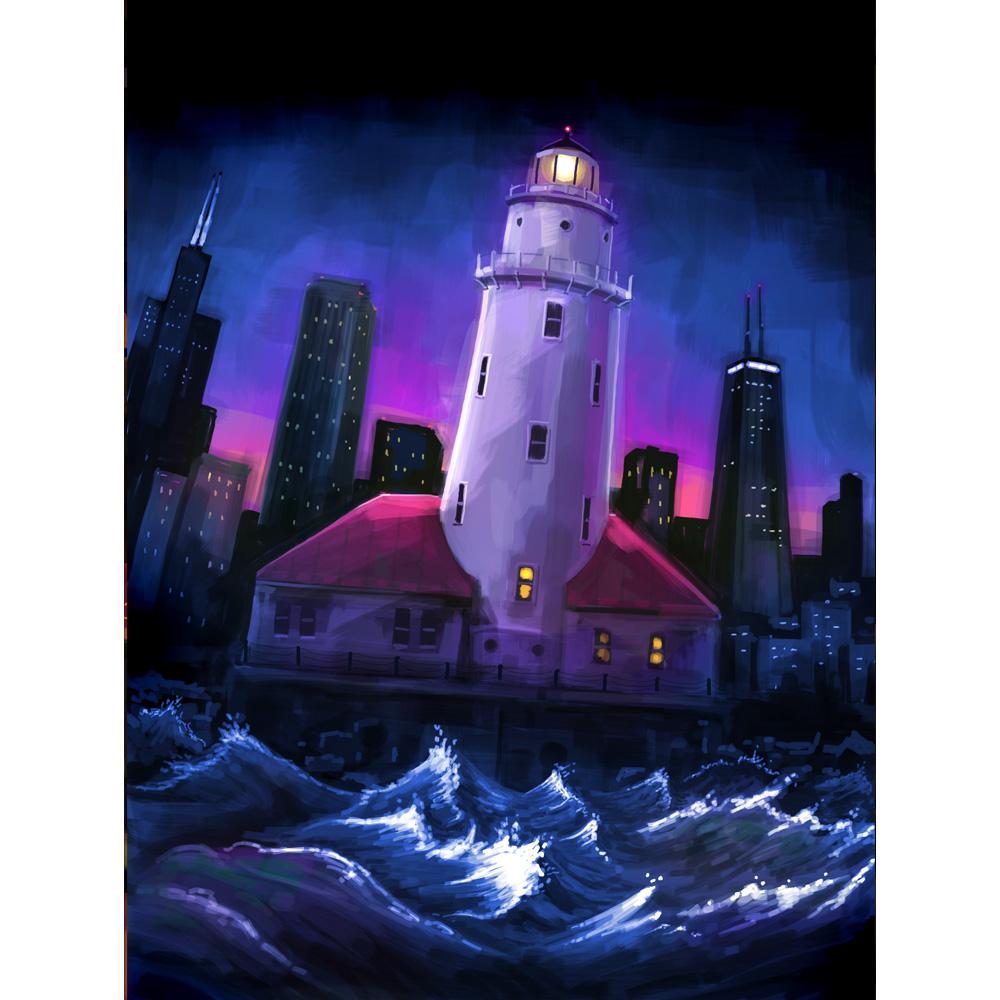 Harbor Lighthouse — Chicago Night
