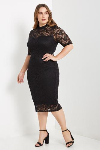 Lace Midi Dress - Plus Size — Shavarn Smith