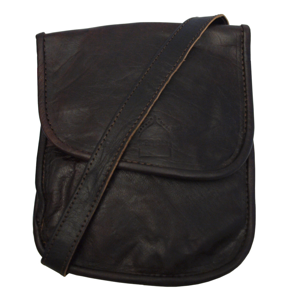 Leather Travel Pouch Dark Brown — Berber Leather | Luxury Handmade Leather  Bags