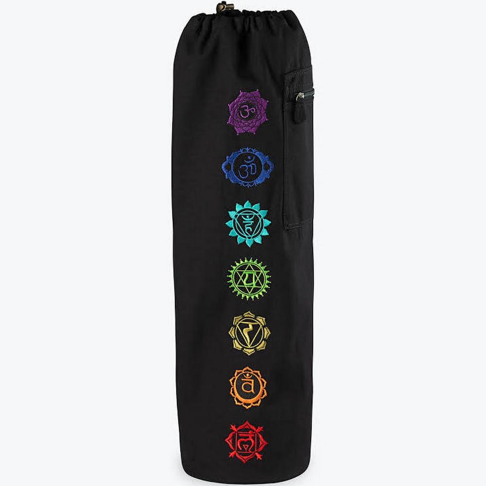 Chakra Embroidered Yoga Mat Bag