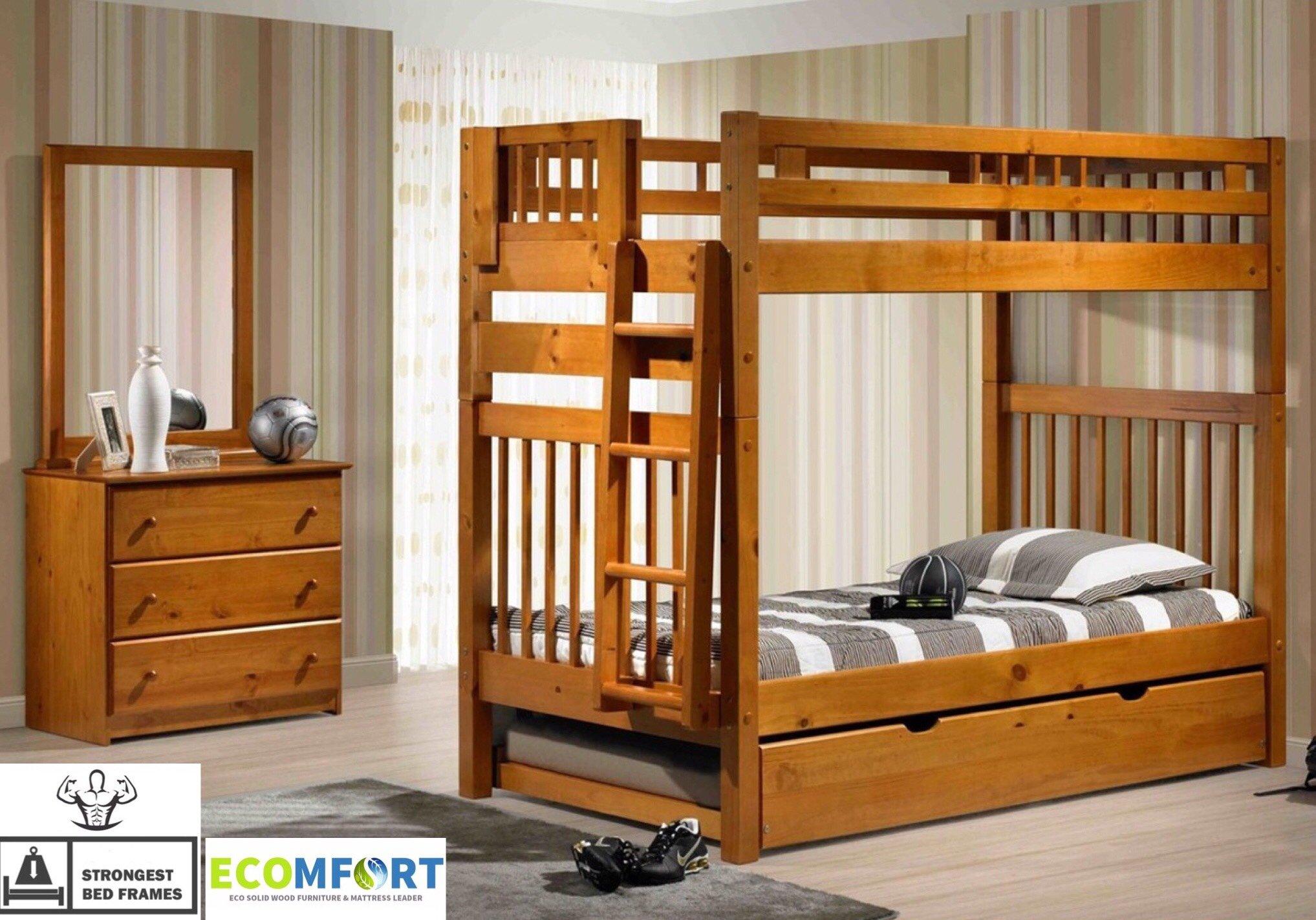 Platform Bedboston Solid Wood Bunk Bed Pecanbunk Bedboston Solid Wood Bunk Bed Pecanmattressboston Solid Wood Bunk Bed Pecanmemory Foamboston Solid Wood Bunk Bed Pecanpillowboston Solid Wood Bunk Bed