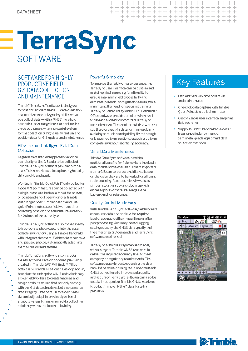 NEW! Trimble TerraSync Standard Field Data Collection Software — Waypoint  Technology Group