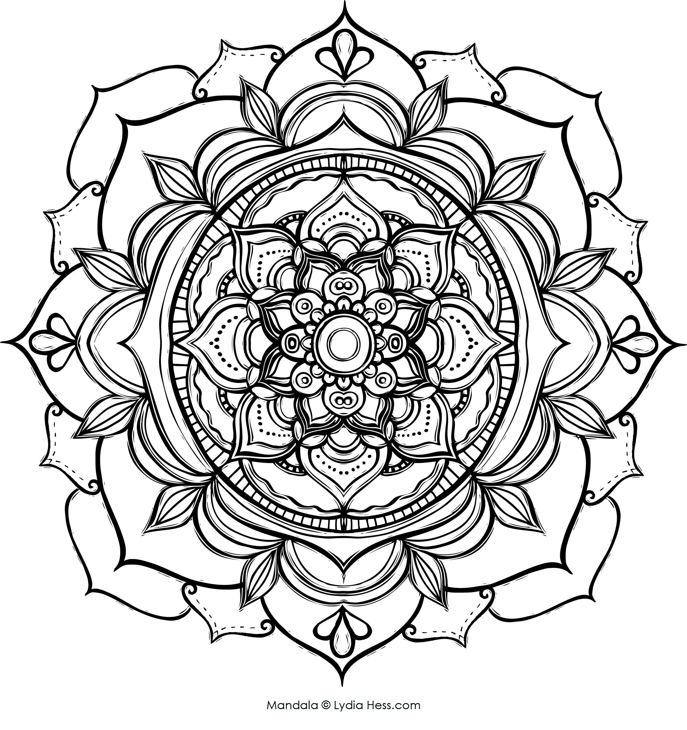 Coloring Pages Mandala Lydia Hess Illustration Design