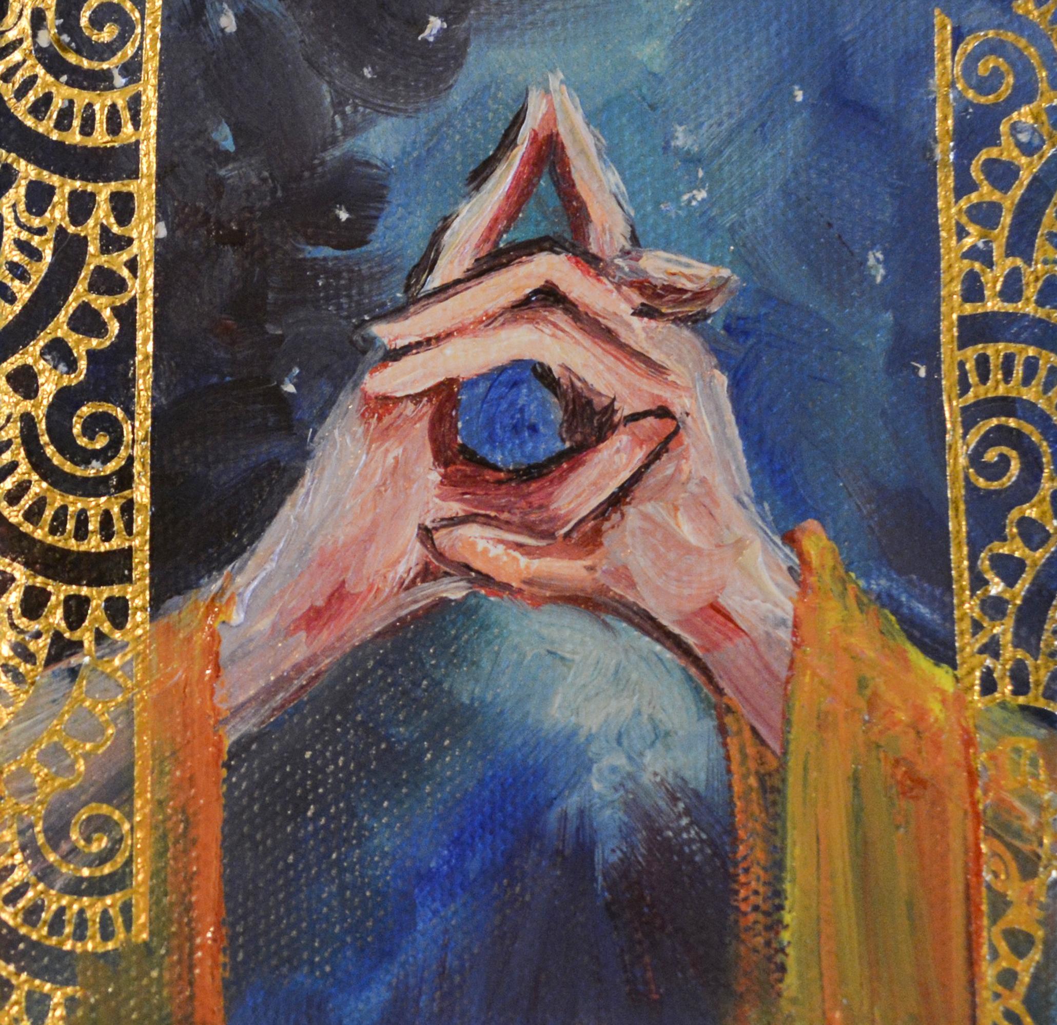 Crown Chakra Mudra 4x4 — VanderHoffStudio