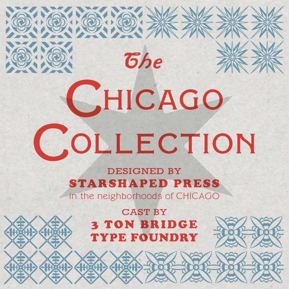 The Chicago Collection #1– metal letterpress ornaments — Starshaped Press