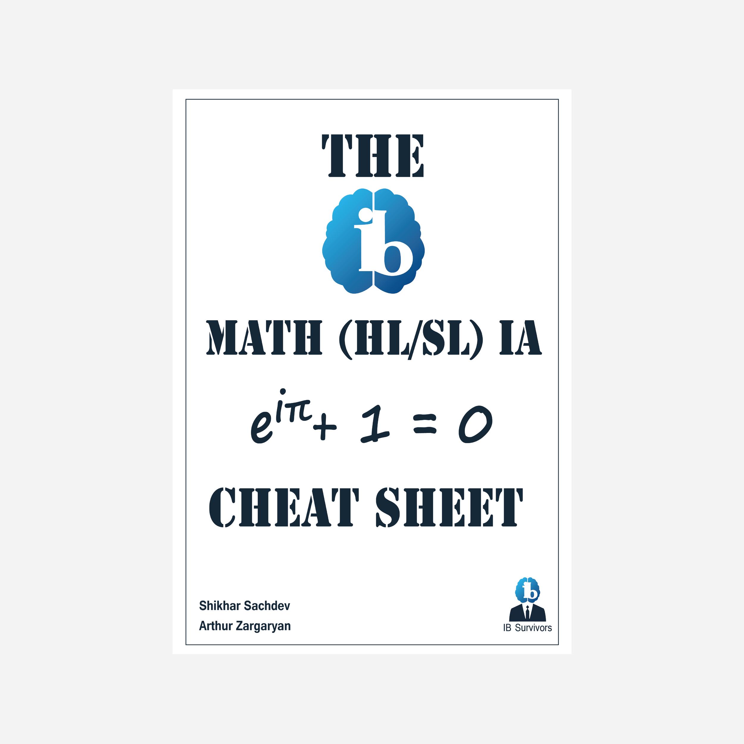 The Math IA Cheat Sheet — IB Survivors