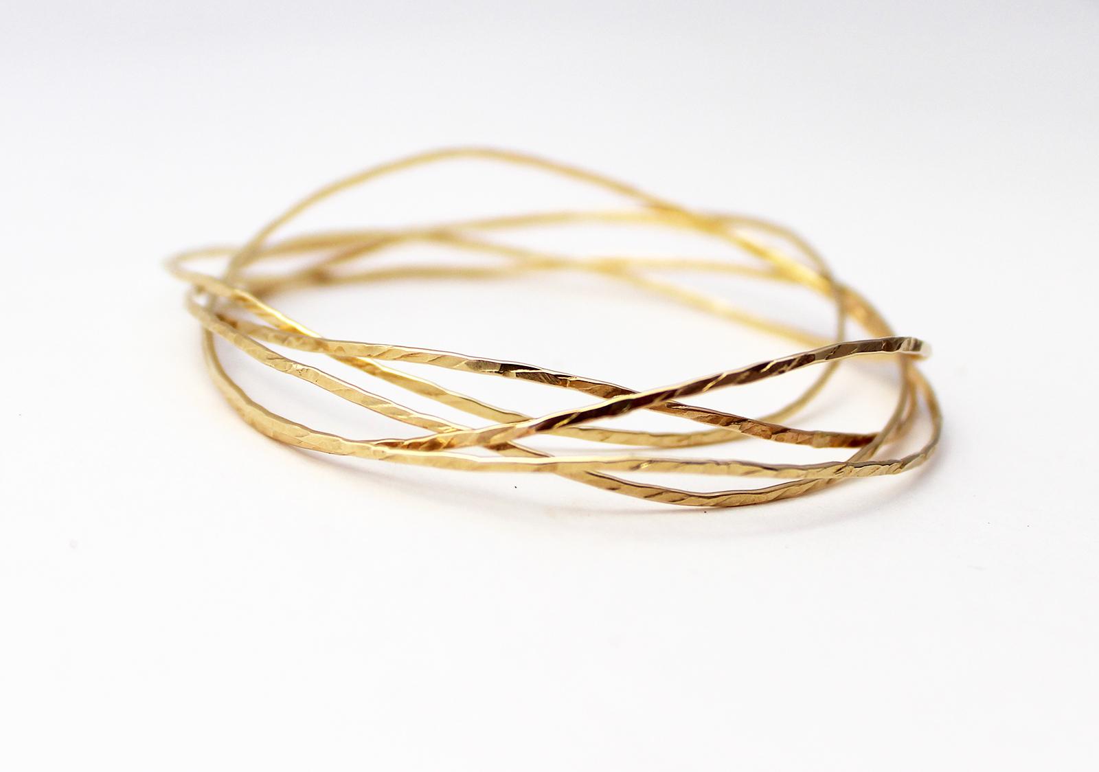 Gold Cuff//Hammered Brass Cuff//Hammered Gold Bracelet