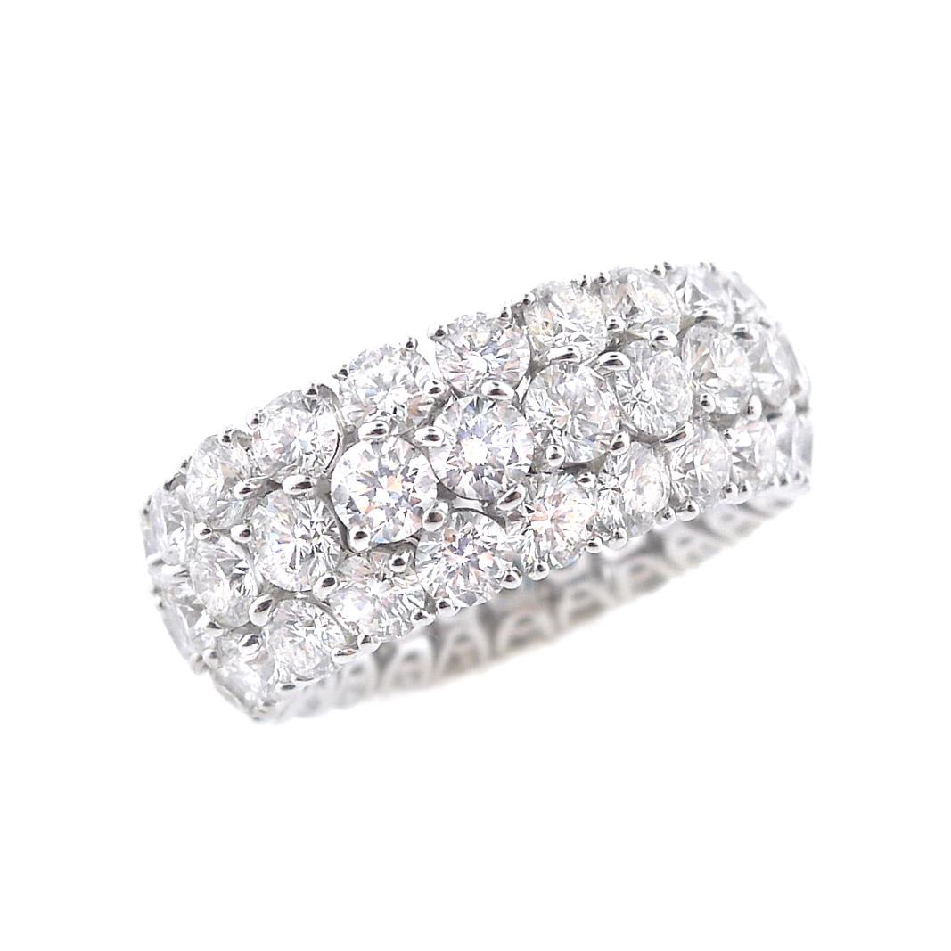 Flexible Triple Diamond Row Wedding Band Diamond Jewelry T
