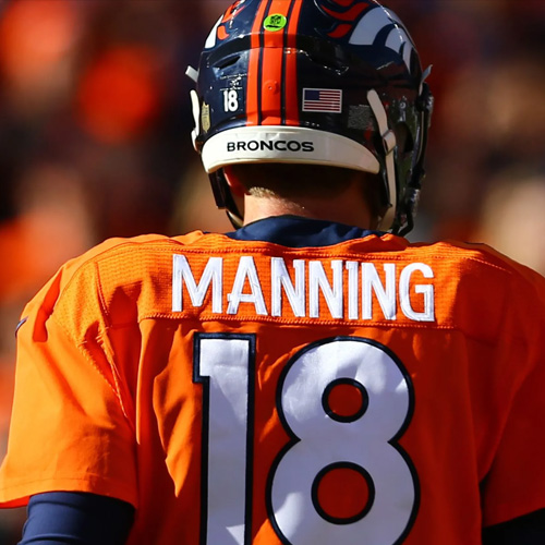 pick up 278a4 6ea2e Signed Peyton Manning Denver Broncos Jersey / Priceless — Sideline Pass