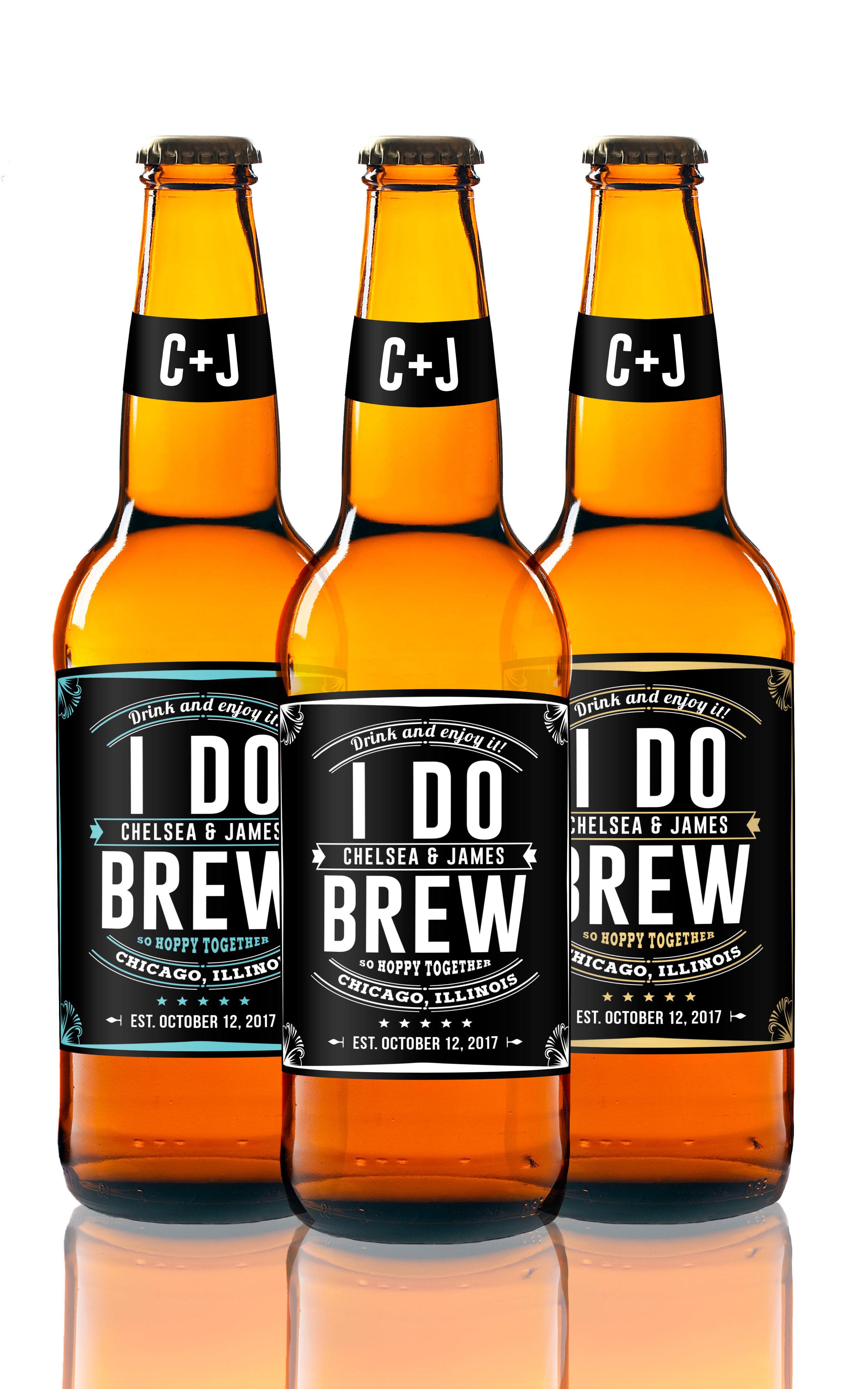 Engagement Gift Beer Labels - I Do Brew