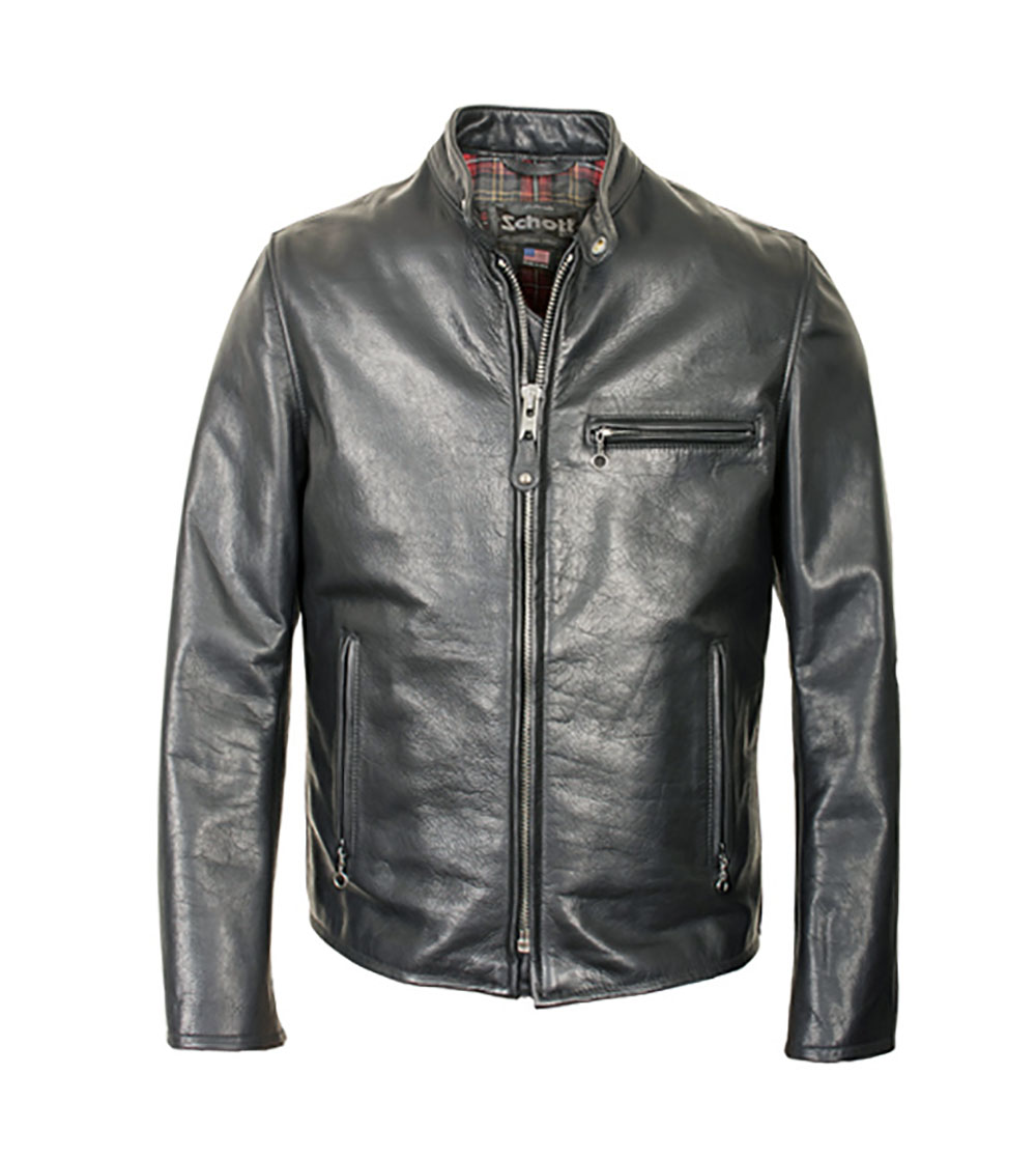 0253dddf3 SCHOTT NYC Perfecto 530 Café Racer Leather Jacket — Zooloo LeatherZooloo  Leather