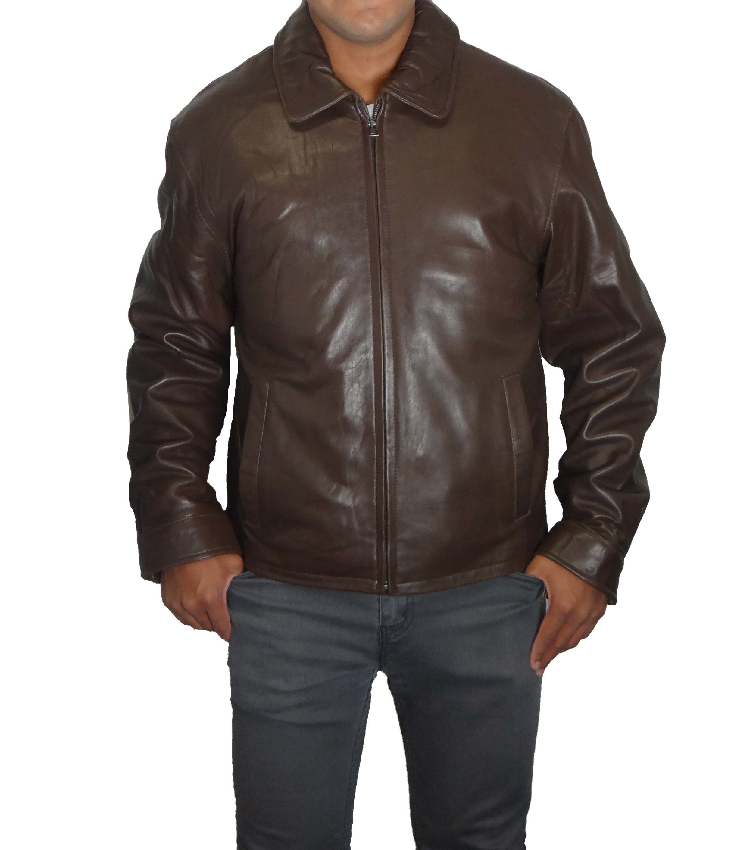 85d298b37 Knoles & Carter Men's Zip Front Leather Jacket — Zooloo LeatherZooloo  Leather