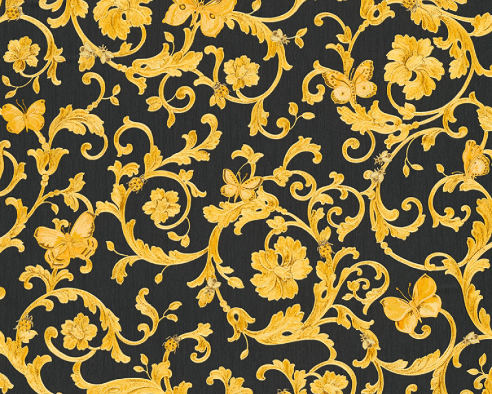 Versace Butterfly Barocco Motif Wallpaper Available In 6