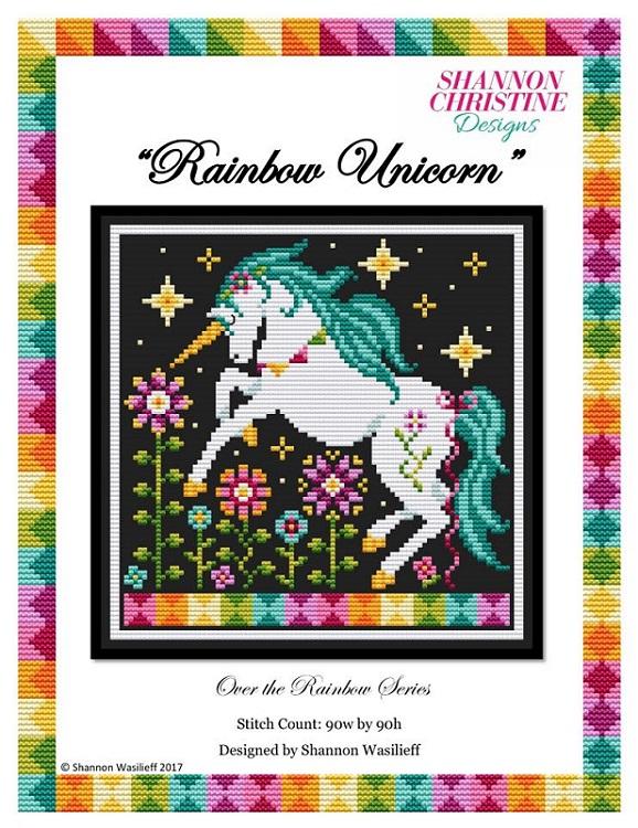 Rainbow Unicorn — Shannon Christine Designs Cross Stitch Patterns