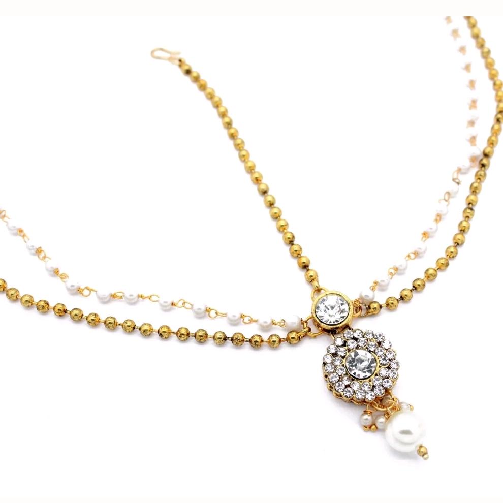 Simple Delicate Gold Silver Pearl Head Chain Glimour Jewellery
