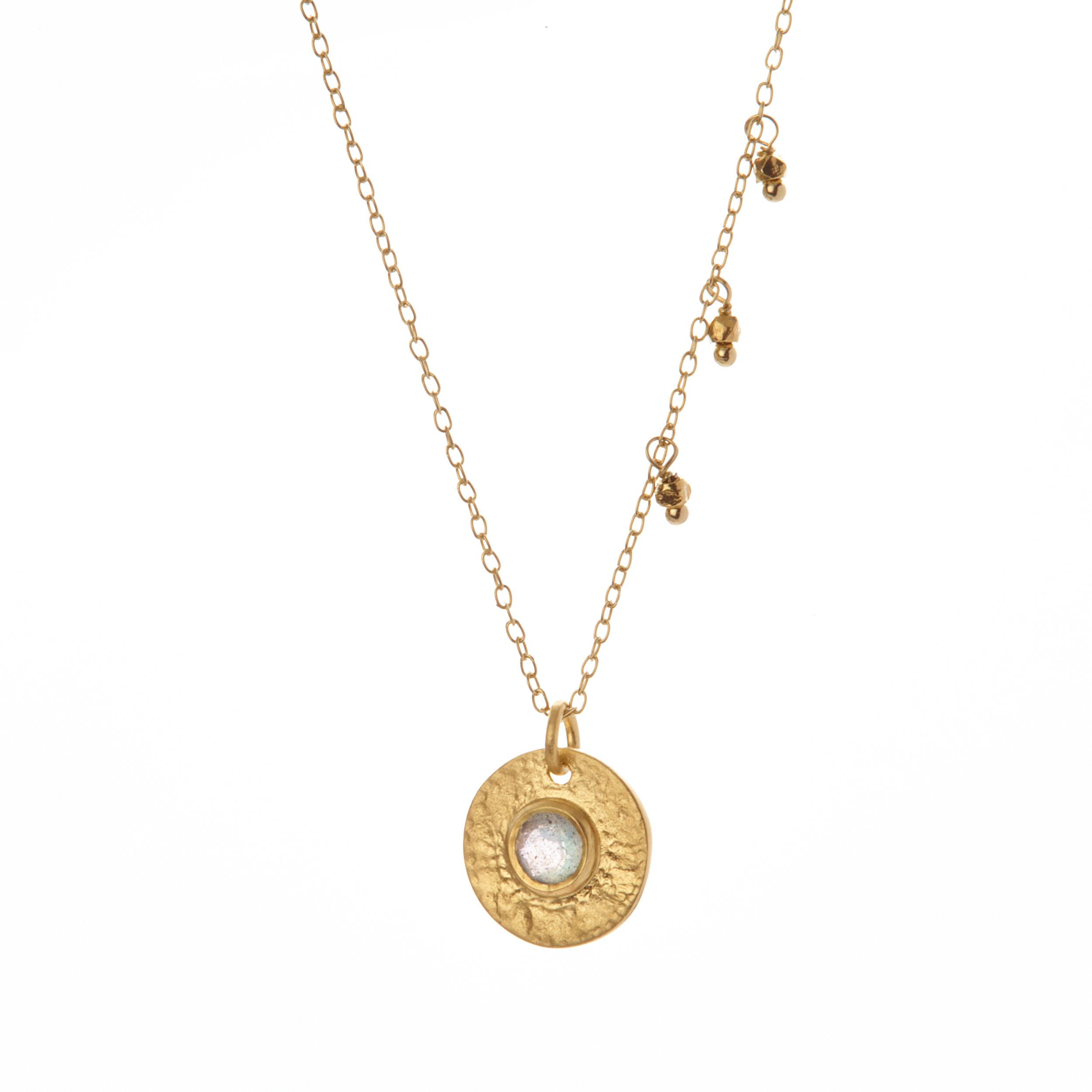 gilded labradorite Necklace