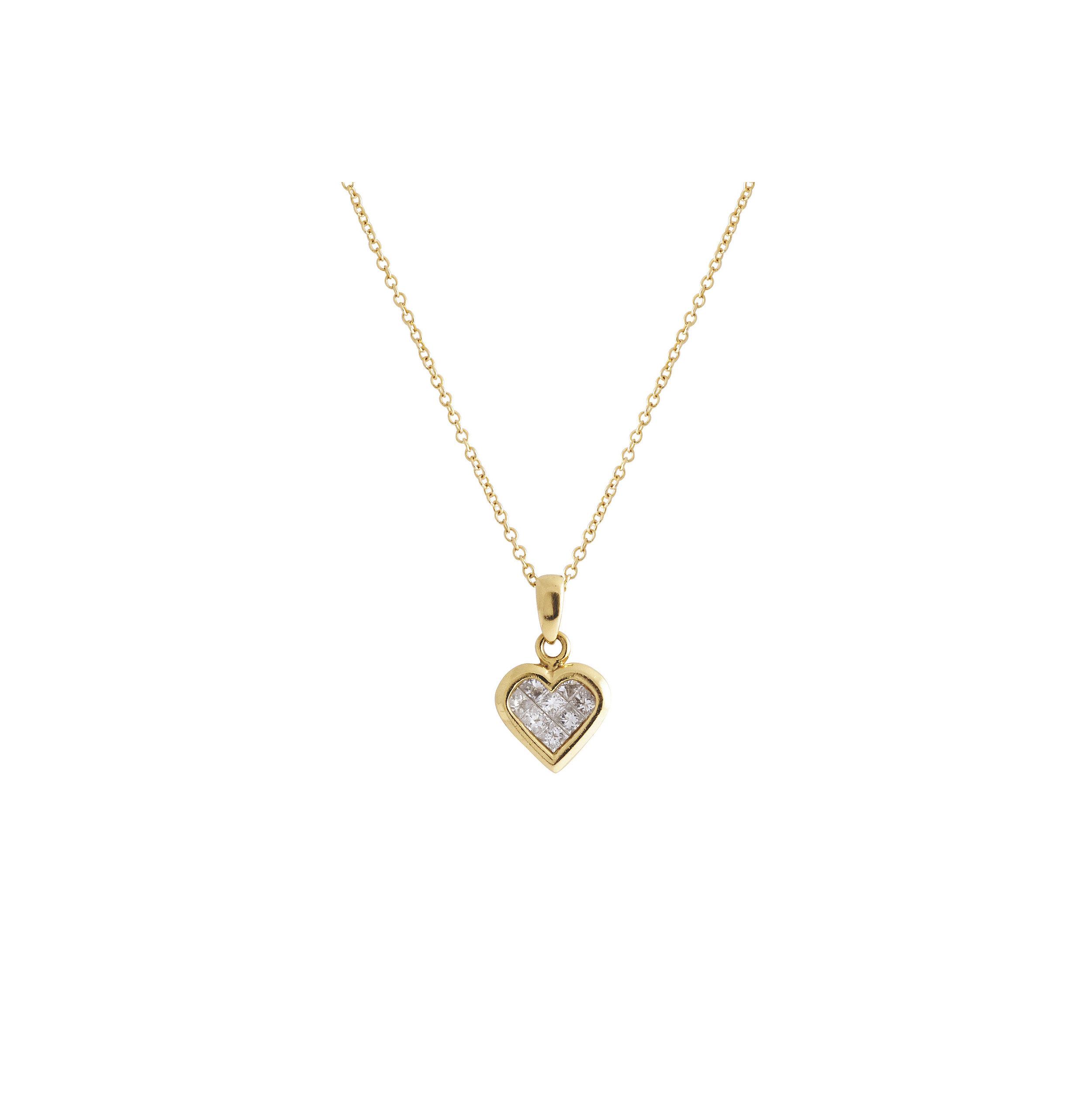 Jewelry By Marsha Small Diamond Heart Pendant