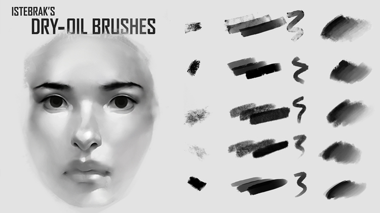 Istebrak's Dry-Oil Brushes for Photoshop — Istebrak