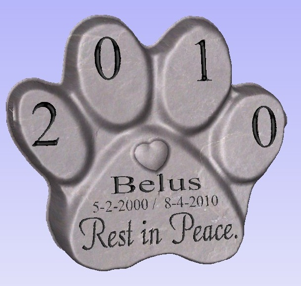 latex mould for making Lovely Paw  Pet Memorial